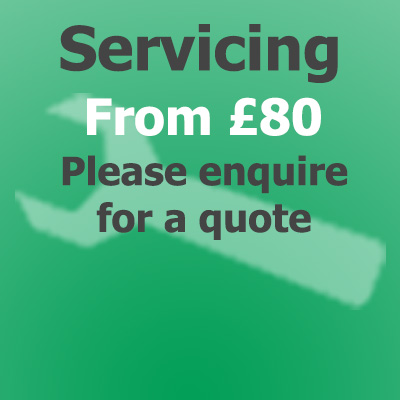 Servicing from £80, please enquire for a quote
